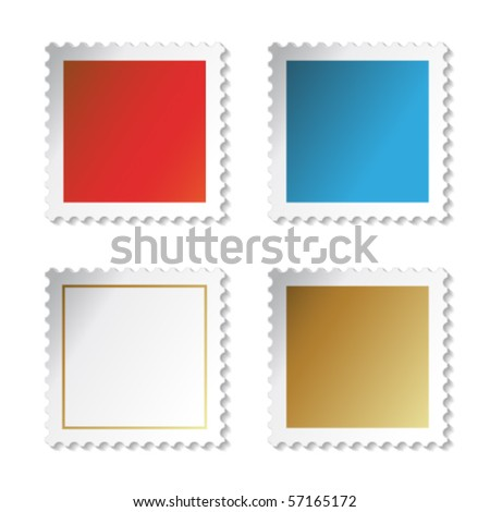 Vector stamp stickers - stock vector