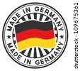 Vector Stamp with flag of the Germany. Lettering Made in Germany. - stock vector