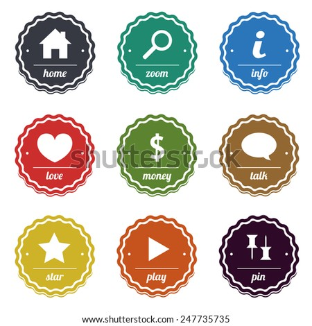 Vector stamps and labels for design - stock vector