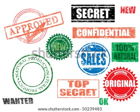 vector stamps  - more available - stock vector
