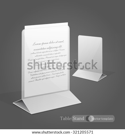 vector stand for advertising paper - stock vector