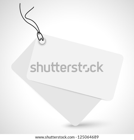 Vector standard sticker - space for text - stock vector