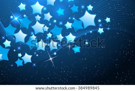 Vector star background design. Clip-art - stock vector