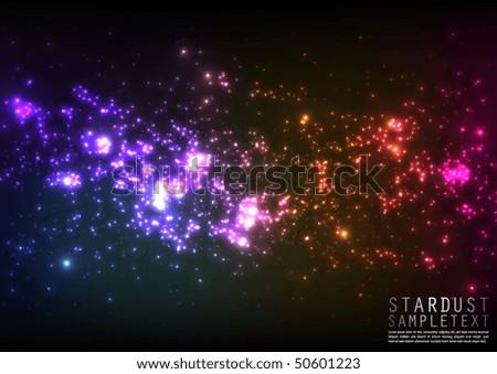 Vector star dust - stock vector