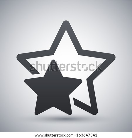 Vector star favorite or best choice icon - stock vector