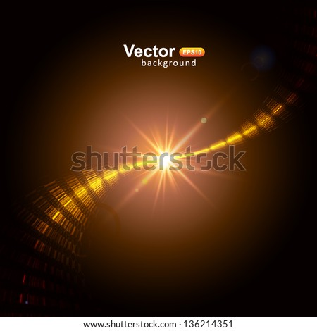 Vector star flash - stock vector