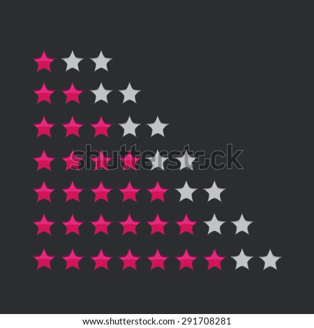 Vector star rating for user interface - stock vector