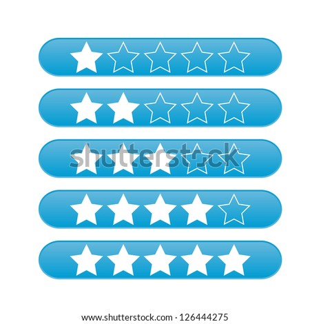 Vector star web icons rating