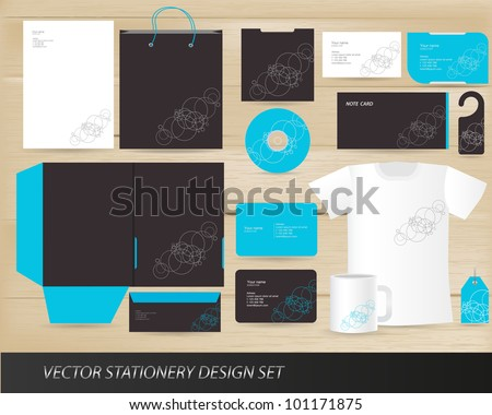 Vector stationery design set - stock vector