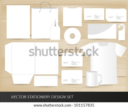Vector stationery design set template - stock vector