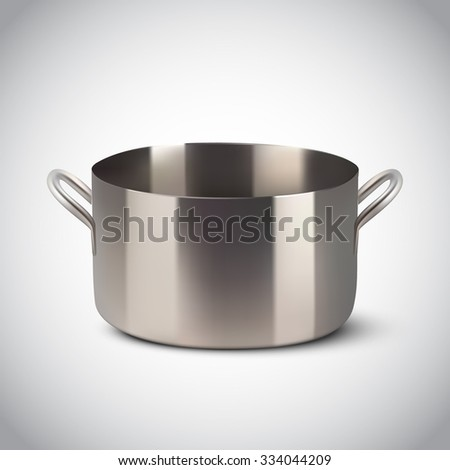 vector steel pot - stock vector