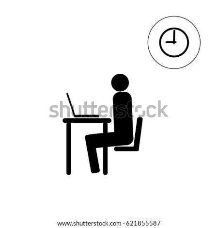 vector stick figure icon man sitting stock vector 621855587 rh shutterstock com stick figure vector software stick figure vector software