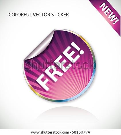 Vector sticker - stock vector