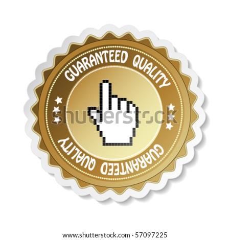 Vector sticker - guaranteed quality - stock vector