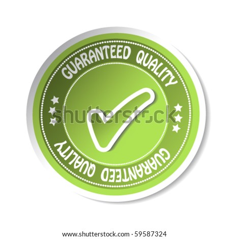 Vector sticker - guaranteed quality - stock vector