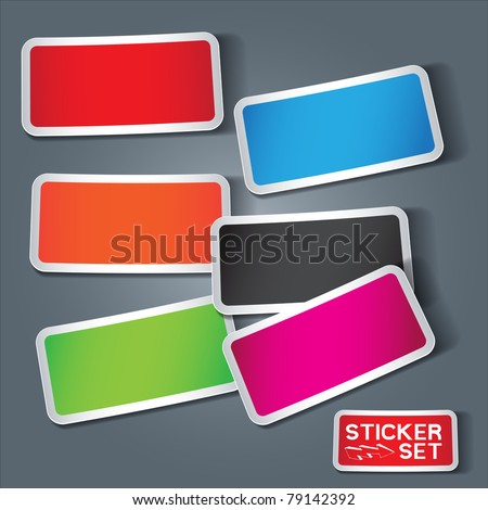 Vector Sticker Set - stock vector