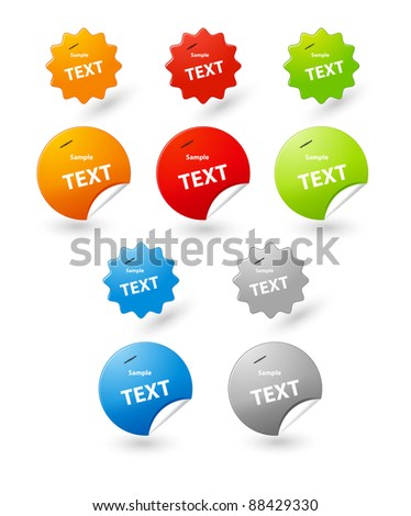 vector sticker tag for your text - stock vector
