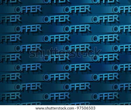 Vector stickers available offer label pattern design. - stock vector