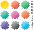 vector stickers. Colorful vector collection. - stock vector