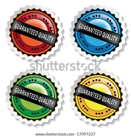 Vector stickers - guaranteed quality - stock vector