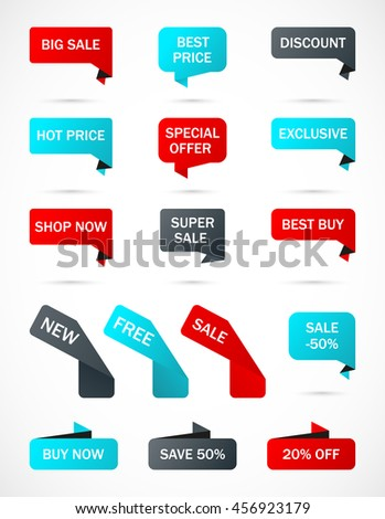 Vector Stickers Price Tag Banner Label Stock Vector 476427100