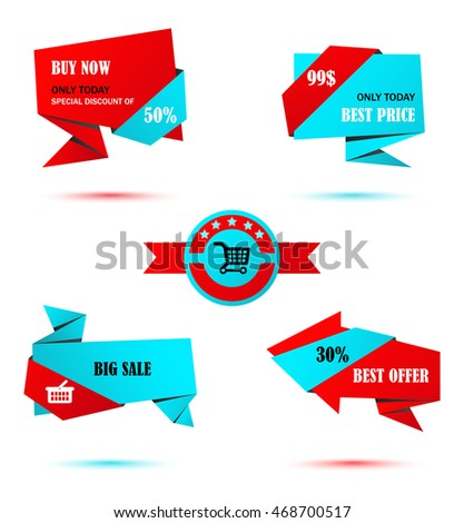 Vector Stickers Price Tag Banner Label Stock Vector 468700517