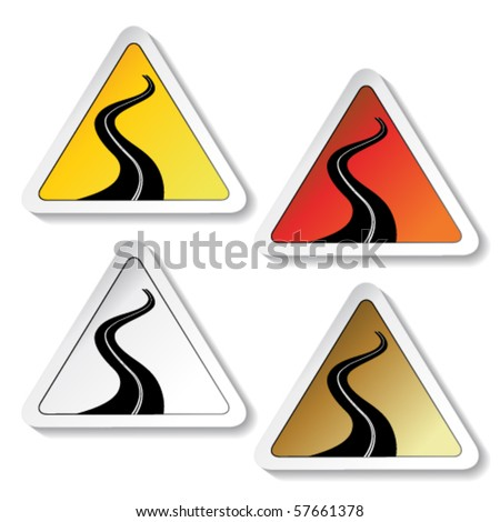 Vector stickers - road sign