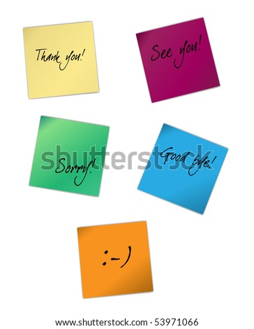 Vector sticky notes - stock vector