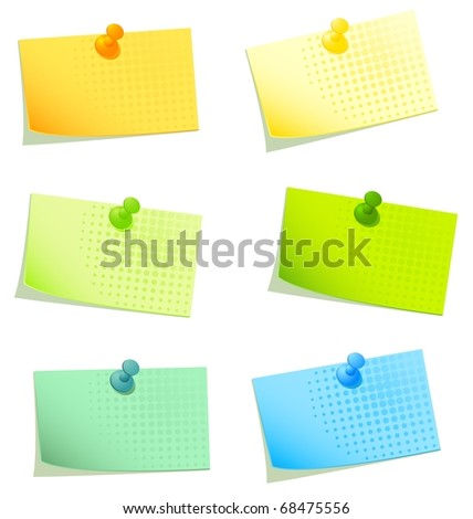 Vector sticky papers set 2 - stock vector