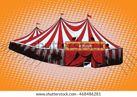 Vector stock illustration. Circus tent.