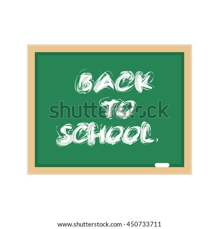 Vector stock illustration of a blackboard green chalk to label. - stock vector