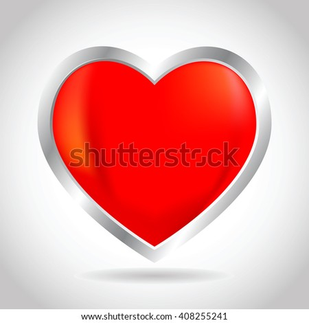 Vector stock of 3D heart and love icon - stock vector