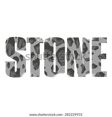 Vector stone  poster with double exposure effect