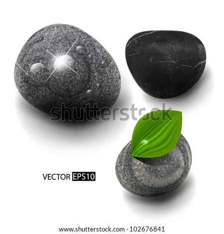 Vector stones isolated on white. - stock vector