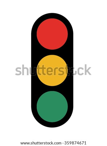 Vector Stop Light Icon - stock vector