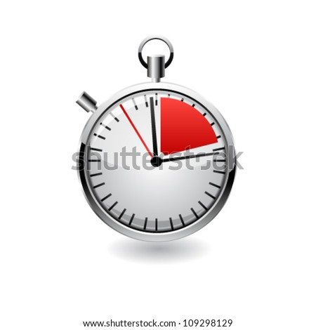 Vector stop watch, realistic illustration. - stock vector