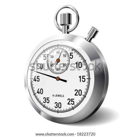 Vector stopwatch - stock vector