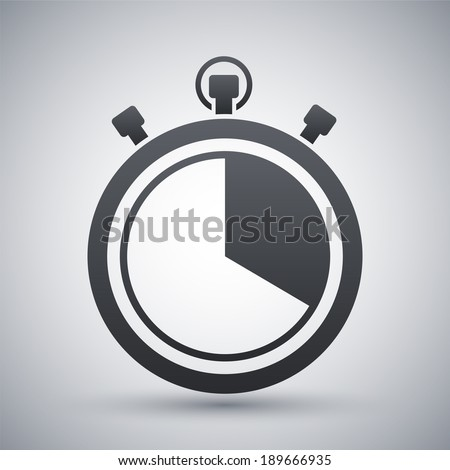 Vector stopwatch icon - stock vector