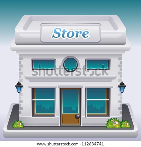 Vector store icon - stock vector