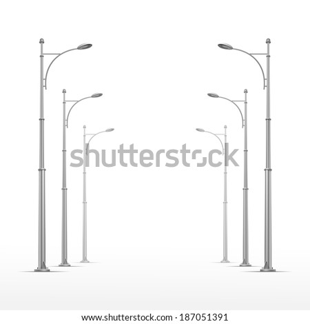 Vector Street Lamp Isolated on White Background - stock vector