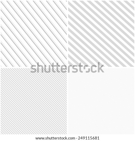Vector striped patterns, seamless. White and grey texture - stock vector
