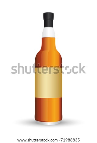 Vector style  bottles (isolated) - stock vector