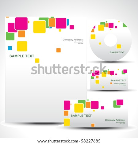 vector style template art illustration - stock vector