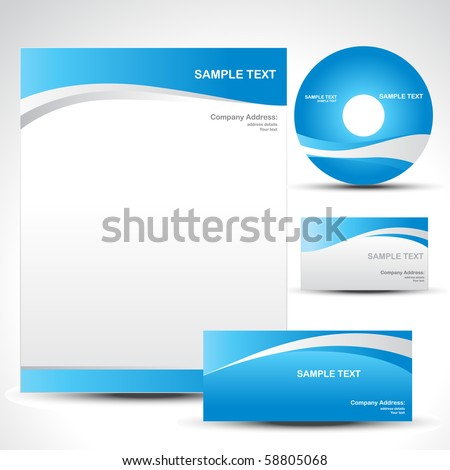 vector style template design set - stock vector