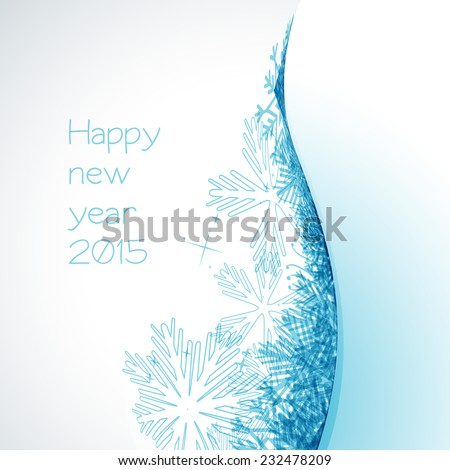 vector stylish background of happy new year 2015 - stock vector