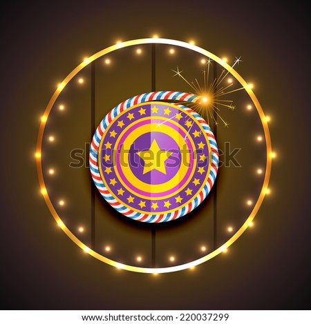 Vector stylish design of diwali - stock vector