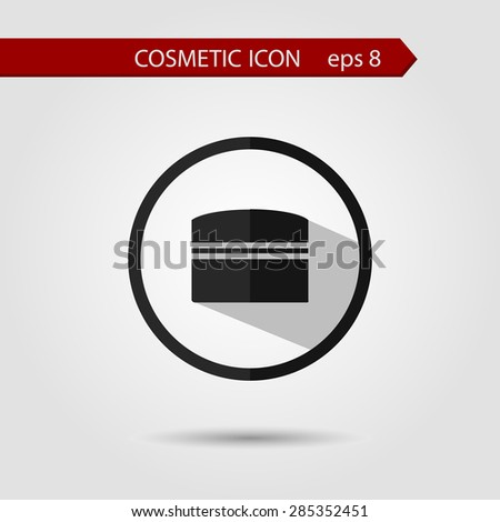 Vector stylish flat icon of with long shadow effect of beauty and cosmetics. - stock vector