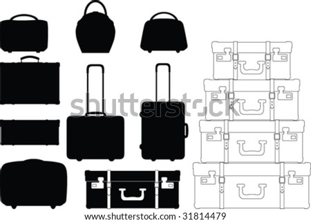 Vector suitcase collection - stock vector