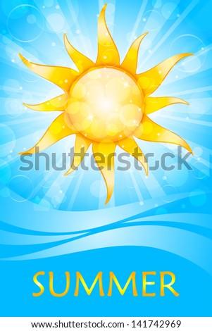 Vector summer background - stock vector