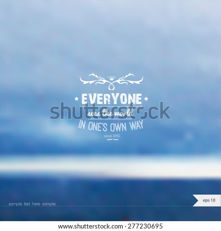 Vector summer background with place for your text. Summer Time. - stock vector